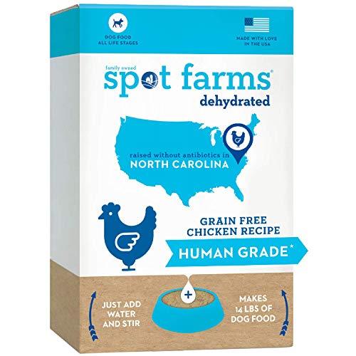 Spot Farms Natural Chicken Dehydrated Dog Food Human Grade Grain Free 3.5 lbs Makes 14 lbs (97508)