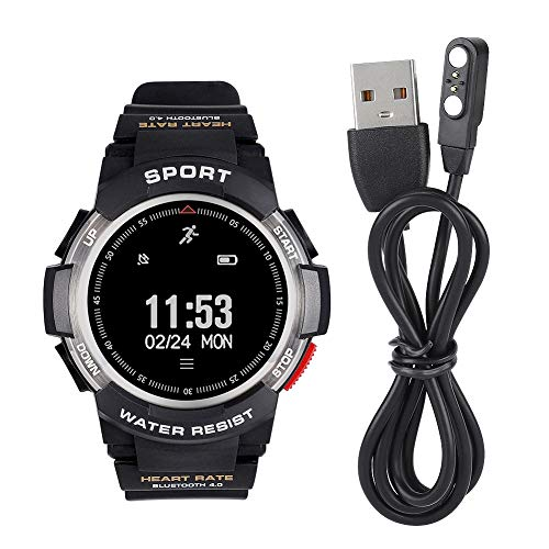 Jinyi Smart Watch, Reloj Elegante de la Pulsera de la Aptitud de los Deportes de la Pulsera de la Aptitud de los Deportes, para el Sistema Android del Sistema iOS(Silver)