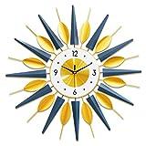 G-X Reloj de Pared de Sala de Estar Minimalista Moderno Reloj de decoración del hogar Creativo Reloj de Pared de Lujo de luz de Arte Mudo, para Cocina, Sala de Estar, Oficina,70x70cm