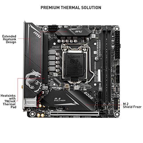 MSI MPG B460I GAMING EDGE WIFI - Scheda madre Performance (10th Gen Intel Core, LGA 1200 Socket, SLI/CF, Dual M.2 Slots, 2.5G LAN, Wi-Fi 6, DP/HDMI