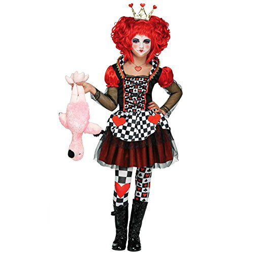 Fun World Queen of Hearts Costume, Large 12 – 14, Multicolor
