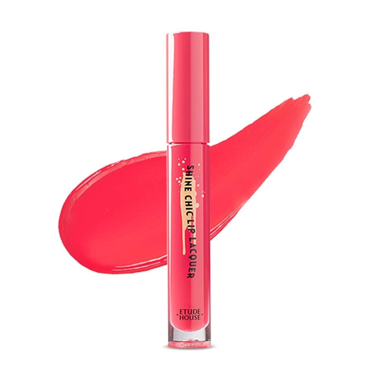 磨かれたコントラストペフETUDE HOUSE Shine Chic Lip Lacquer/エチュードハウス シャインシックリップラッカー (# PK002) [並行輸入品]