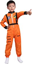 ACSUSS Children Boys Girls NASA Astronaut Costume Firefighter Spaceman Suit Long Sleeves Jumpsuit with Straps