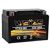 YTX9-BS Battery Maintenance Free For Motorcycle ATV...
