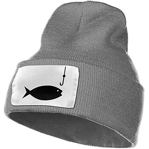 Maselia Angelrute Clipart Unisex Warm Woolen HatandStylish Winter Hats Schwarz