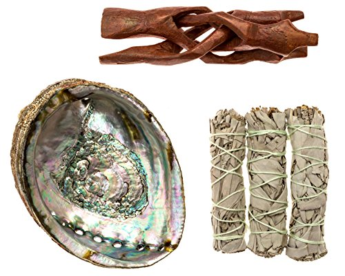 Premium Bundle with 5.5 Inch or Larger Abalone Shell,...