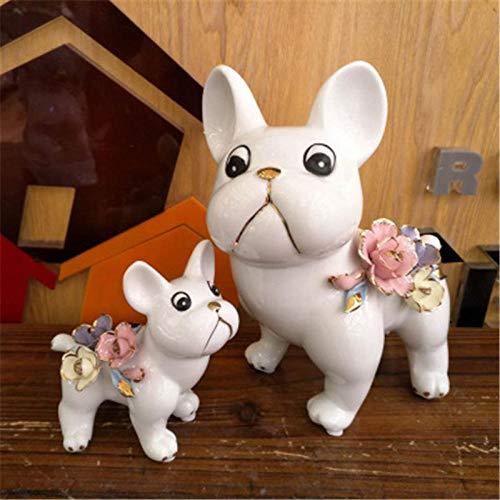 Beeldjes Standbeelden Praktisch Keramiek Hond Standbeeld Woonkamer Tv Bank Houdt Van Stoffering Art & Craft Decor