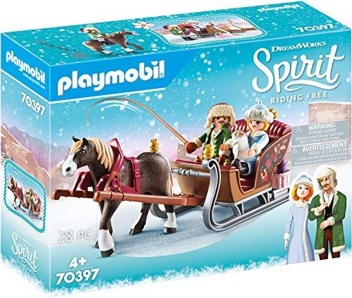 PLAYMOBIL DreamWorks Spirit 70397 Winterliche Schlittenfahrt, Ab 4 Jahren