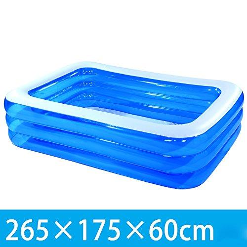 Silai Opblaasbare Badkuipen voor volwassenen Badkuipen voor kinderen Badkuipen Blauw PVC Opvouwbare Badkuipen Badkuipen 265 * 175 * 60CM, 305 * 185 * 65cm