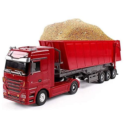 Angelay-Tian Control Remoto Camión volquete 6 Canales Función Completa Construcción Máquina de vehículo de Juguete Modelo con Luces, 1/32 Escala RC RC camión para niños, Regalos para niños niñas