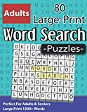 Large Print Word Search Puzzles: Perfect For Adults & Seniors: Brain Sharper Game For Adults Men Women & Perfect Gift For Seniors With Solutions ( Volume 10 )