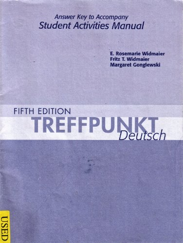 Answer Key for Treffpunkt Deutsch: Grundstufe