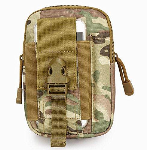 Lisirs Taktische Hüfttaschen Gürteltasche Praktisch Vielseitig Taillentasche Männer Brieftasche Handyhülle Praktische Geldbörse Beutel Gadget Taschen mit Sicherheitskarabiner Digitaler Dschungel
