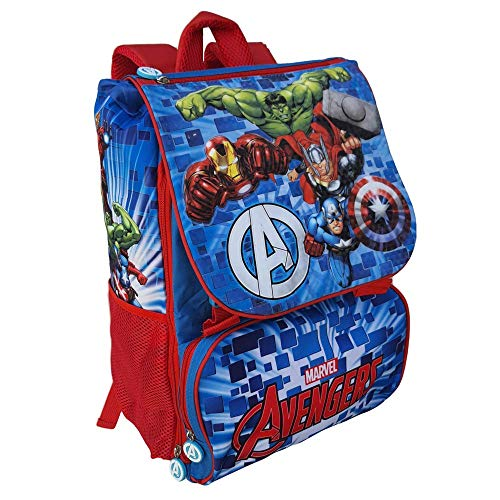 Zaino Avengers Marvel Iron Man Capitan America Hulk Thor Estensibile Scuola ELEMENTARE CM. 40X29X27 - AV0609
