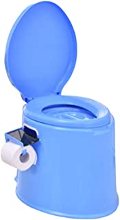 ZJY Heightening Thickening Adult Removable Toilet Pregnant Women Toilet Portable Squatting Urine Bucket Urinal Urinal Chair Urinals (Color : Blue 2)