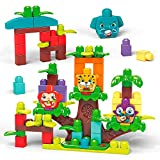 Mega Bloks First Builders Groupe Musical de la Jungle, sons d'animaux, jeu de blocs de construction, 60 pièces, jouet pour bébé et enfant de 1 à 5 ans, GGG11