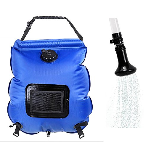 Hotour draagbare outdoor douche 5-gallonen zonnedouche watertas camping douche 20L met thermometer