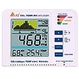 KKmoon CO2 測定器 二酸化炭素測定器 デスクトップ CO2/RH/温 度 空気質測定器 二酸化炭素モニター 屋内/屋外 CO2モニター アラーム付き データログトレンドグラフ