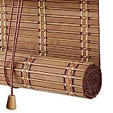 Persianas Enrollables de Bambú Natural,Estores de Bambú para Exteriores,Cortinas Opacas para Ventanas,Persianas de Madera Privacidad Protección para Pabellón Baño de Oficina (100x240cm/39x95in)