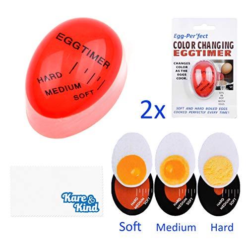 Kare & Kind Paquete 2 Temporizadores Cocinar Huevos
