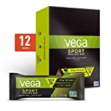 Vega Sport Vegan Protein Bar, Crispy Mint Chocolate, Post Workout Protein Energy Bars - Plant Based, Vegan, BCAAs, Vegetarian, Dairy Free, Gluten Free, Non GMO (12 Count)