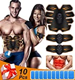 JOHNLOUISE Abs Stimulator,Ab Stimulator Body Toning Fitness,Training Device for Muscles- Wireless Portable,Training Home Office Exercise,Muscle Toner Workout Machine for Men & Women