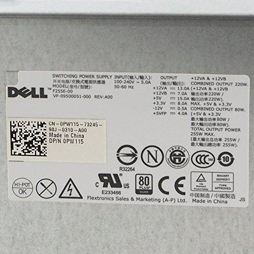 255 Watt Dell 0N805F N805F H255PD-00 HP-D2555P0 PSU ATX Netzteil Power Supply OK
