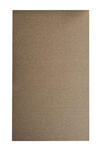 Flachgewebe Teppich Sahara - robuste Kunstfaser in edler Sisal-Optik | schadstoffgeprüft pflegeleicht strapazierfähig | für Wohnzimmer Schlafzimmer Büro, Farbe:Cognac, Größe:200 x 220 cm