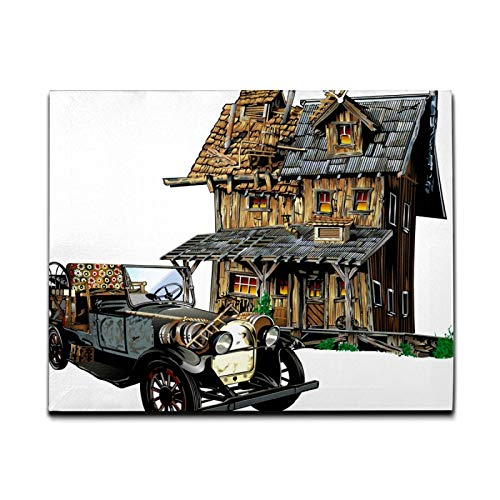 Canvas Wall Art Painting Patch Illustrator House Car Pictures Printed...