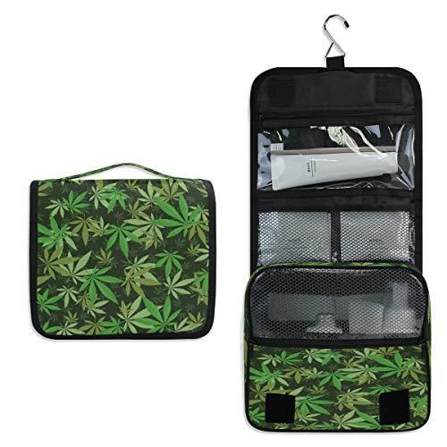RXYY Bolsa de aseo para colgar de viaje, diseño de hojas de...