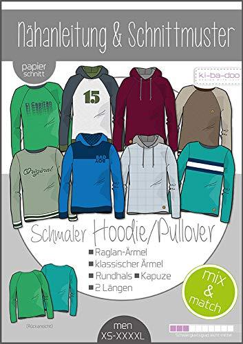 Schnittmuster kibadoo Herren Mix&Match Sweater/Hoodie Papierschnittmuster