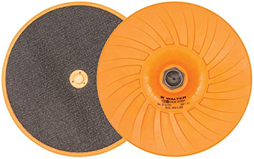 Walter 07Q074 Quick-Step Backing Pad - 7 in. Velcro Backer Pad with Centering Pin, Hook-Loop System for Surface Finishing Discs