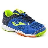 Joma - Zapatillas de tenis para niño - T. Match Jr 804 Royal, turquesa, 33 EU