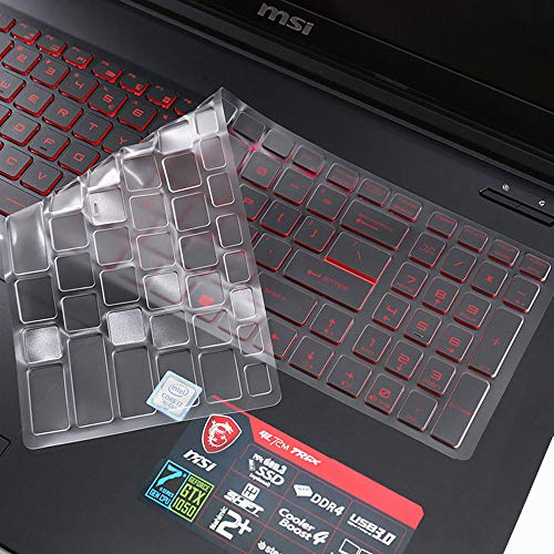 """For MSI Gaming Laptop Keyboard Cover for 15.6"""" MSI GP65 GL65 GF62 GP62 GL62M GT62VR GF62VR GE63VR GS63 GS63VR, 17.3 inch MSI GS75 GE75 GF75 GL72M GF72VR GV72 GP72 GS73 GS73VR GT73VR GE72 Keyboard Skin"""