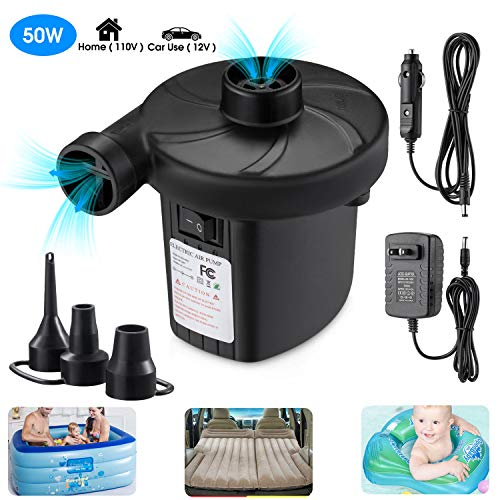 Air Mattress Pump for Inflatables, Quick Fill Inflator Deflator Air Pump Perfect for Outdoor Camping Inflatable Boat Blow Up Pool Water Toy Car Air Bed