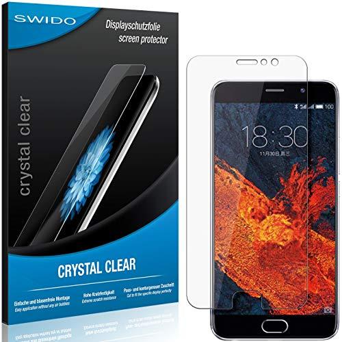 SWIDO Bildschirmschutz für Meizu Pro 6 Plus [4 Stück] Kristall-Klar, Hoher Festigkeitgrad, Schutz vor Öl, Staub & Kratzer/Folie, Schutzfolie, Bildschirmschutzfolie, Panzerglas Folie