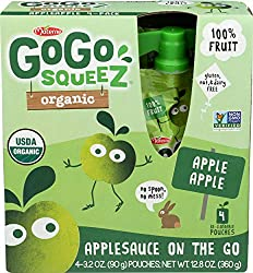 Materne, Apple Sauce Go Go Organic, 3.2 Ounce, 4 Pack