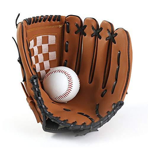 JPYH Baseballhandschuh, Sport Pitcher Baseball Handschuhe aus PU-Leder Baseball Glove Batting Handschuhe, Softballhandschuhe für Kinder