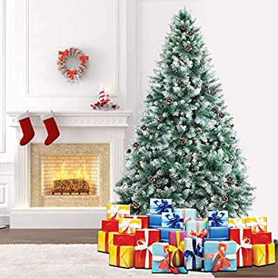SHareconn Premium Artificial Spruce Hinged Christmas Trees/Mini Tree with/Without Lights