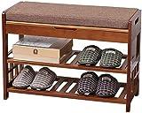 Wddwarmhome Zapatillas Multifuncional EUROPEO EUROPEO SIMPLE ZAPATOS NATURALES NATURALES Zapato Sit de zapatos Zapato Organizador de la sala de estar Dormitorio de la sala Rack ( Size : 72*29*51cm )