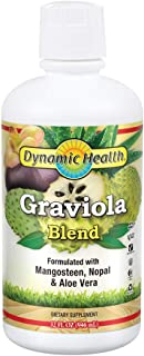 Dynamic Health Graviola Blend | Juice Formulated with 100% Organic Graviola, Mangosteen, Aloe Vera & Nopal | Vegetarian, Gluten-Free, BPA-Free | 32oz