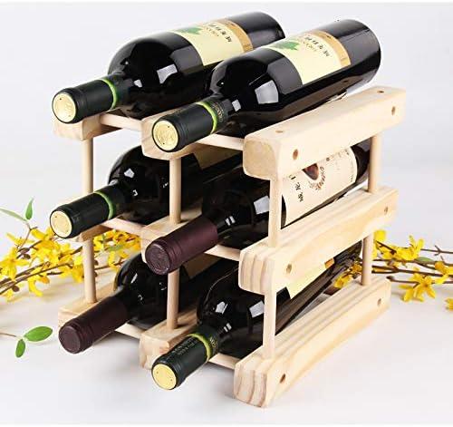 Wine Racks Countertop wine rack R freestanding Wooden floor Animer and price revision Large discharge sale