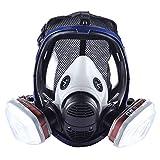 Máscara de vapor orgánica 15 en 1 para pintura química, máscara de gas con doble filtro de...