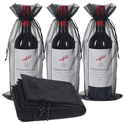 30 bolsas de vino organza, botella de vino bolsa de regalo c