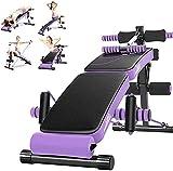 AINH Banco di dumbbell pieghevole per il fitness Banco regolabile Sit Up Banco, Bordo di crunch, Banco di allenamento del declino del peso, Attrezzatura multifunzionale del fitness, bordo dell up-up p