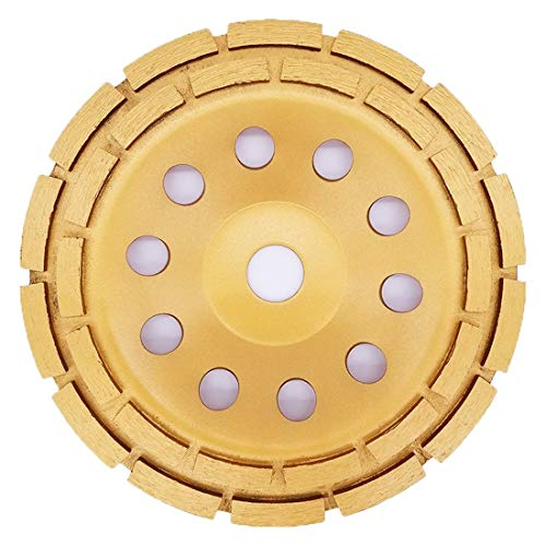 APLUS 7-Inch Diamond Cup Grinding Wheel, Double Row Diamond Grinder Disc for Concrete, Granite, Stone, Marble etc
