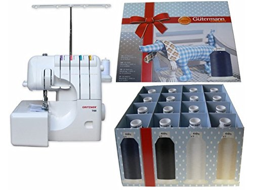 Overlock Set! Gritzner 788 LED Version + Gütermann Miniking Set 16x 1000m
