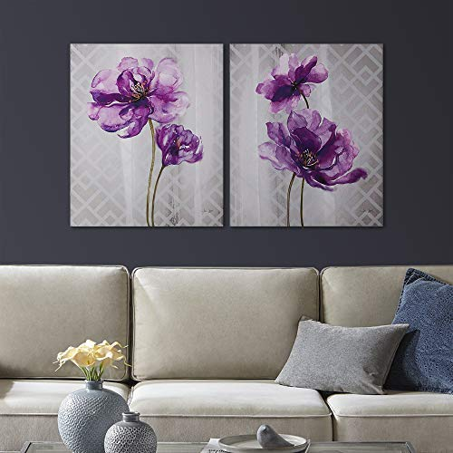 Purple and Grey Decor: Amazon.com