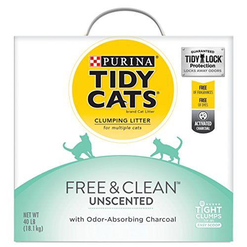 Purina Tidy Cats Clumping Cat Litter, Free & Clean Unscented...