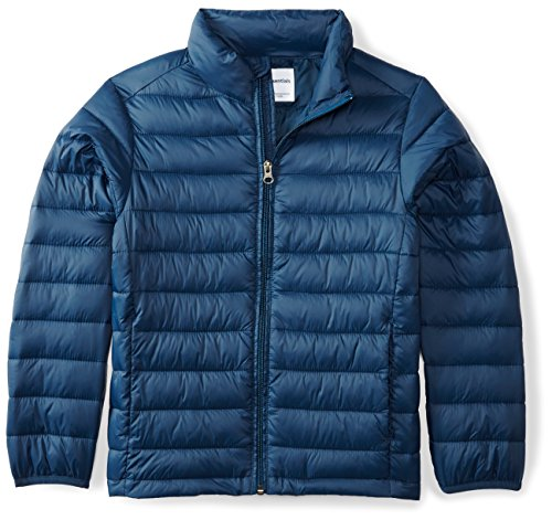 Amazon Essentials Boys' Lightweight Water-Resistant Packable Puffer Jacket Giacca, Blu (Navy), X-Large